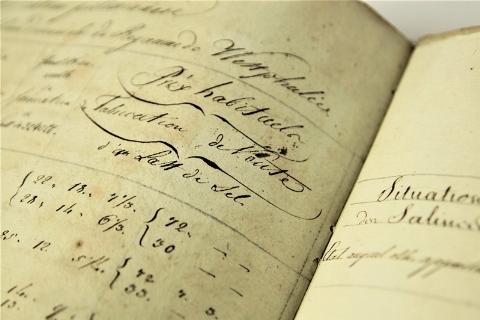 Manuscripts Mineralogy. HÉRON. Mémoire sur les mines...